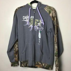 Cabela's gray/camo full zip jacket. Medium